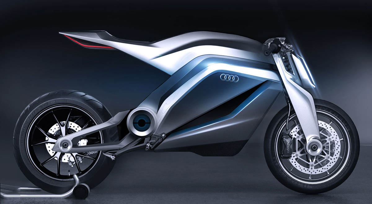 Audi Etron Motorrad Side