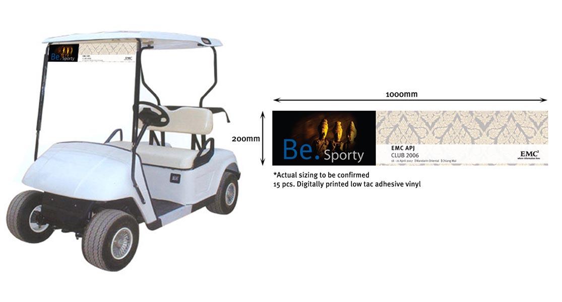 Golfcart Sign