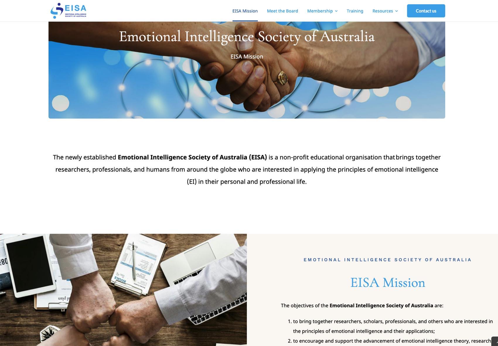 EISA Website Designh samples