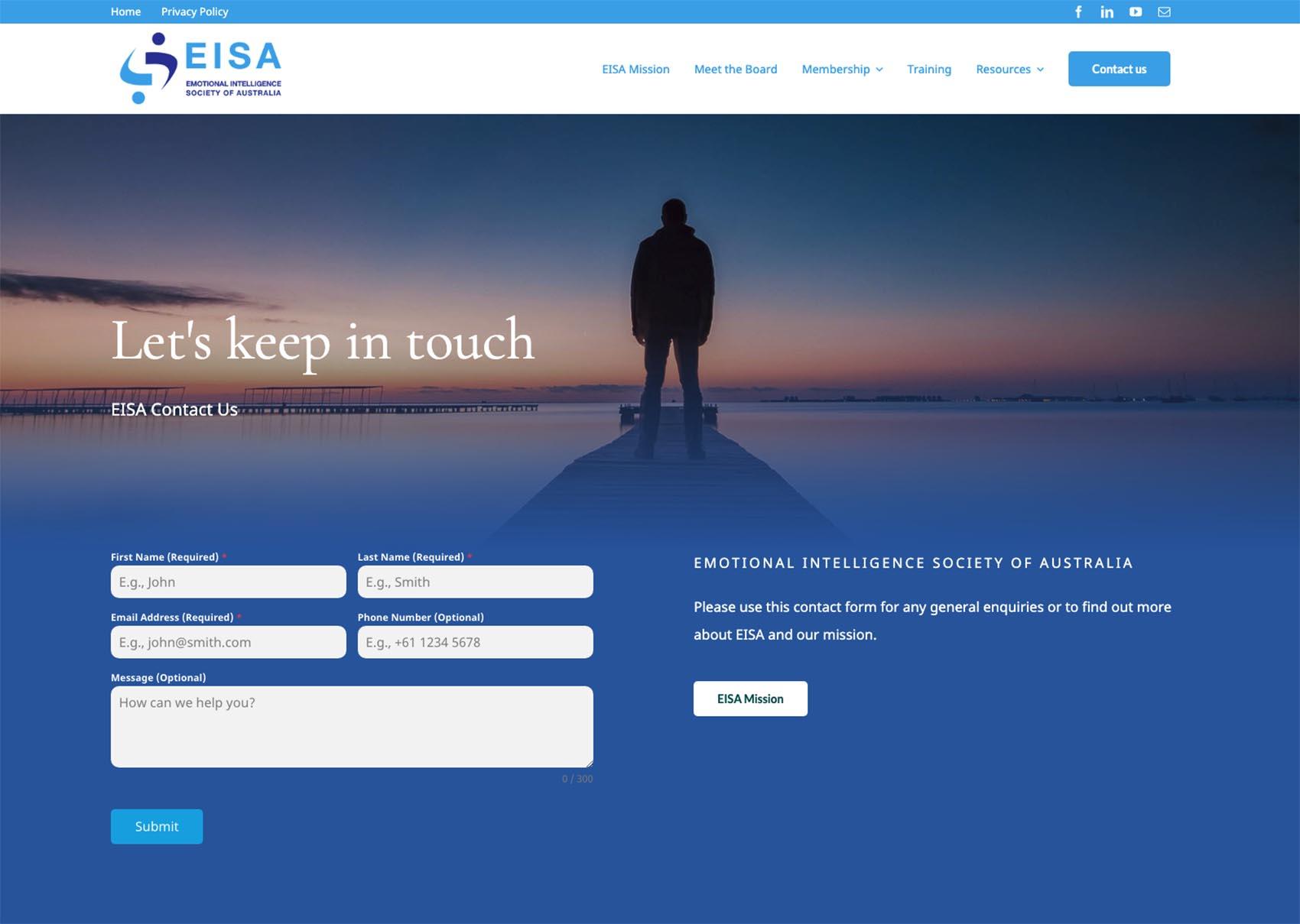 EISA Website contact