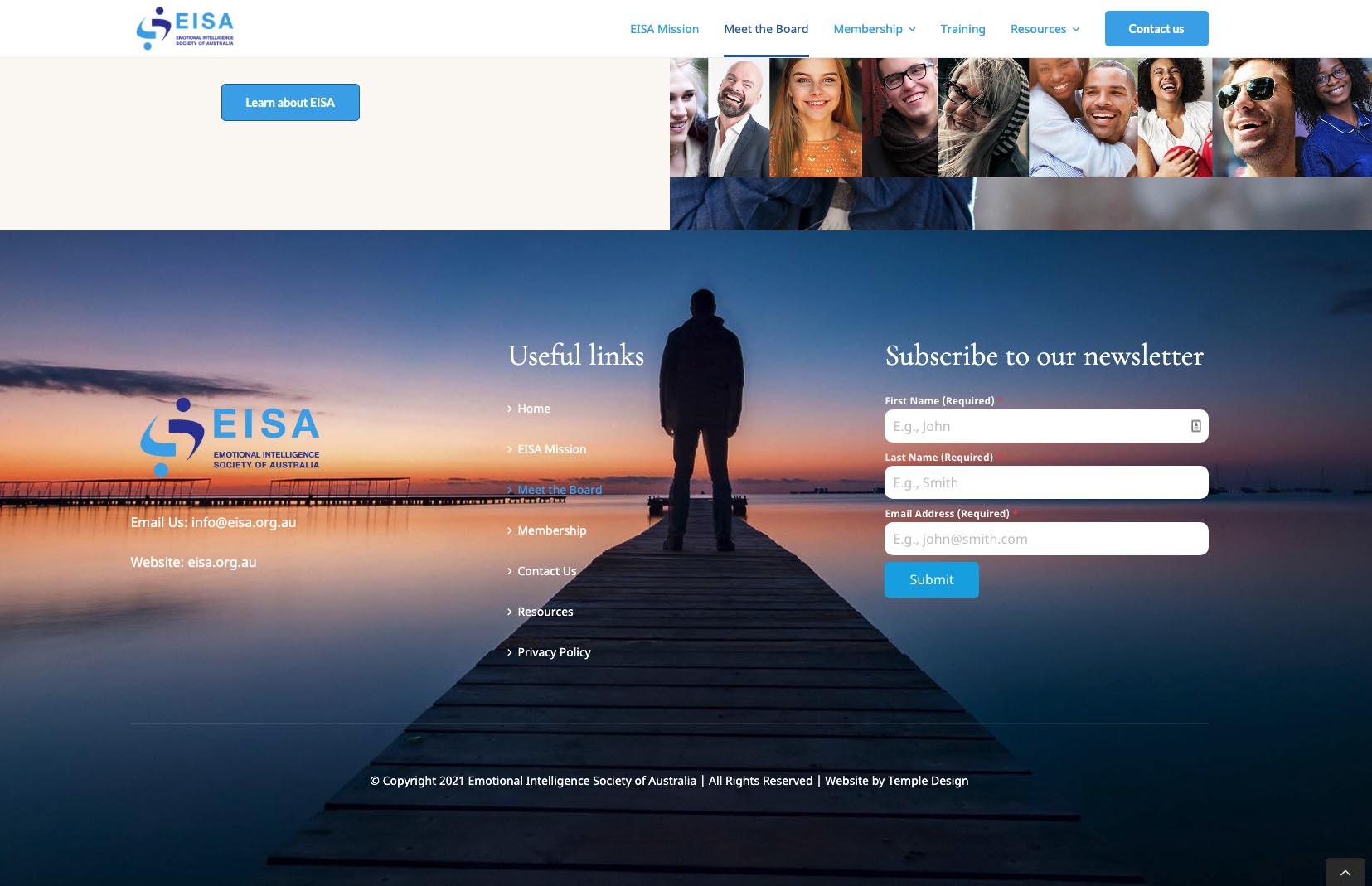 EISA Website foooter