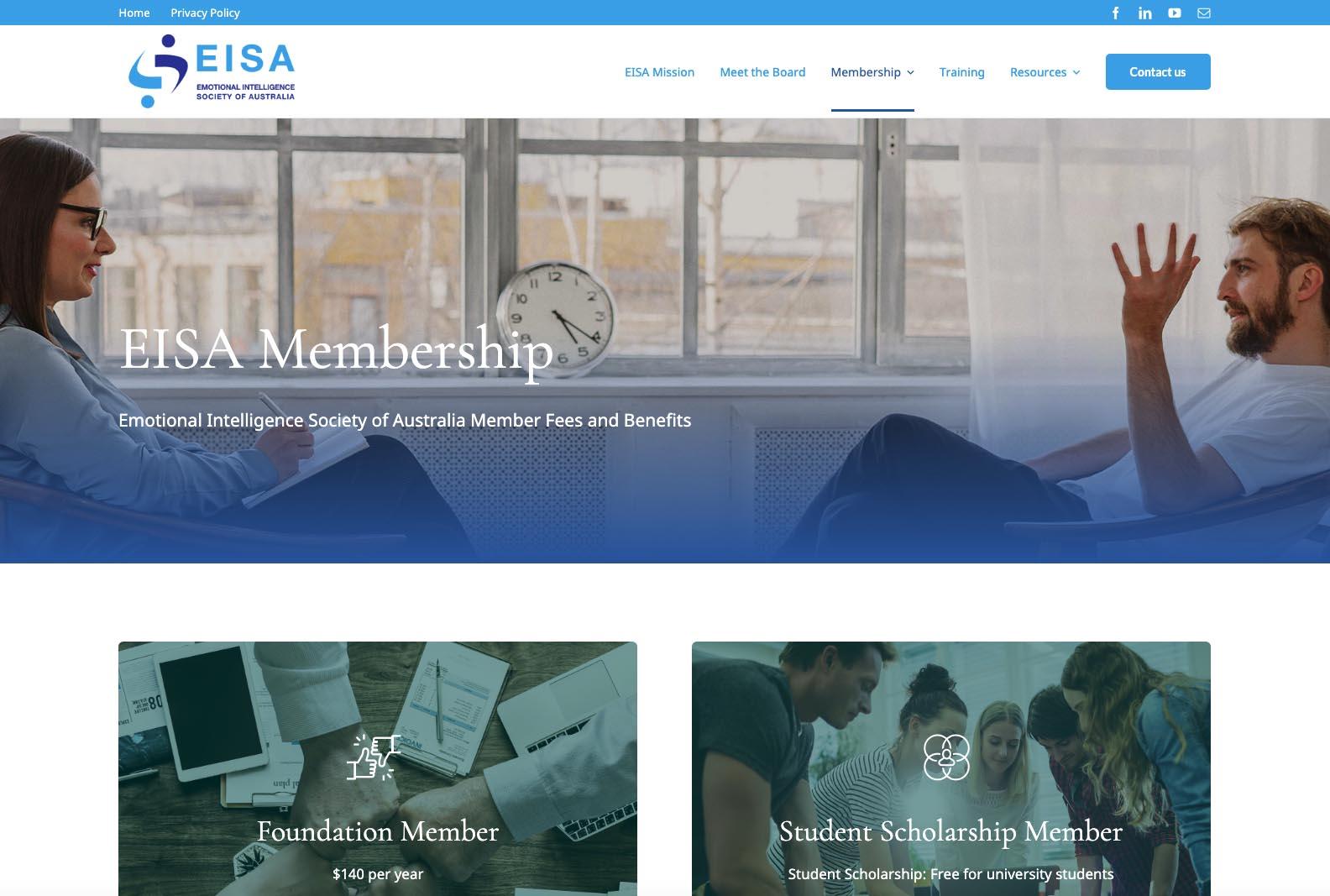 EISA Website memberpage