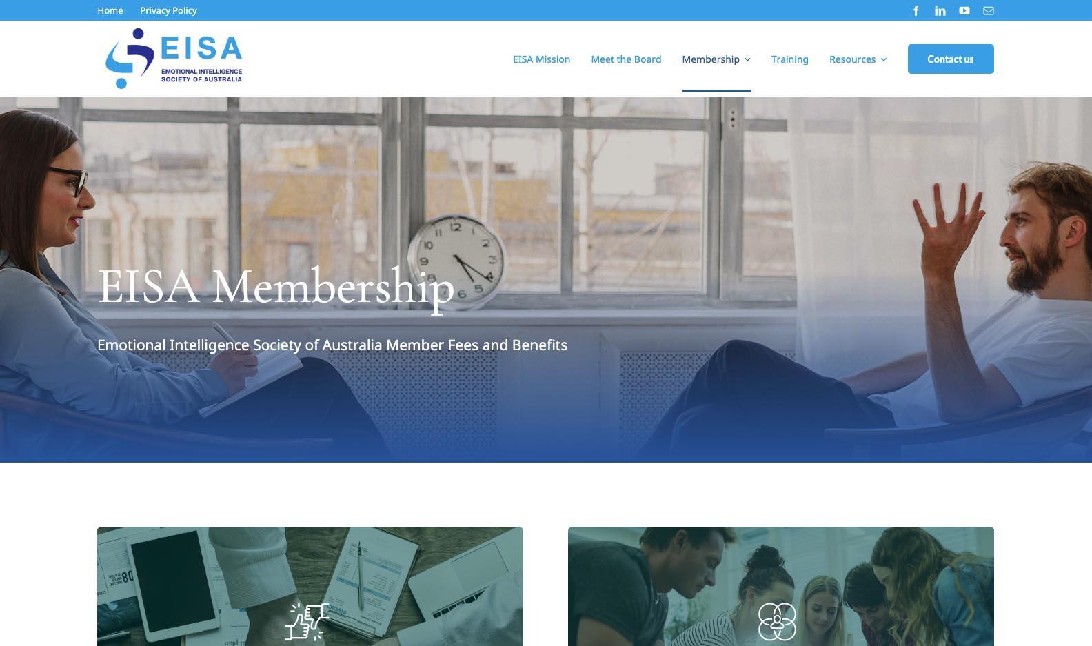 EISA Project type: Website design and development