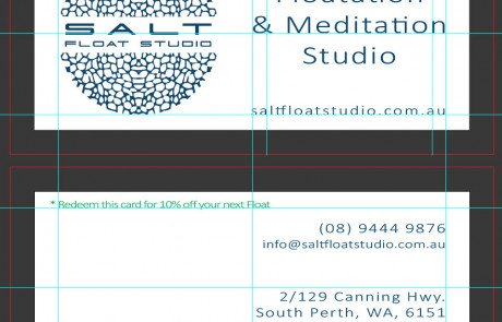Salt Float Studio Business cards